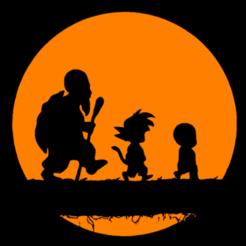 Download 3D printing models Silhouette Goku, Krillin & Roshi, ramontovmar