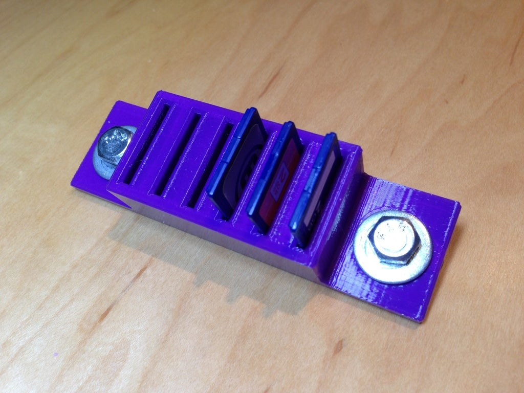 IMG_0564.jpg Download free STL file SD Card Holder, for 1010 T-Slots • 3D printing model, Mendelssohn
