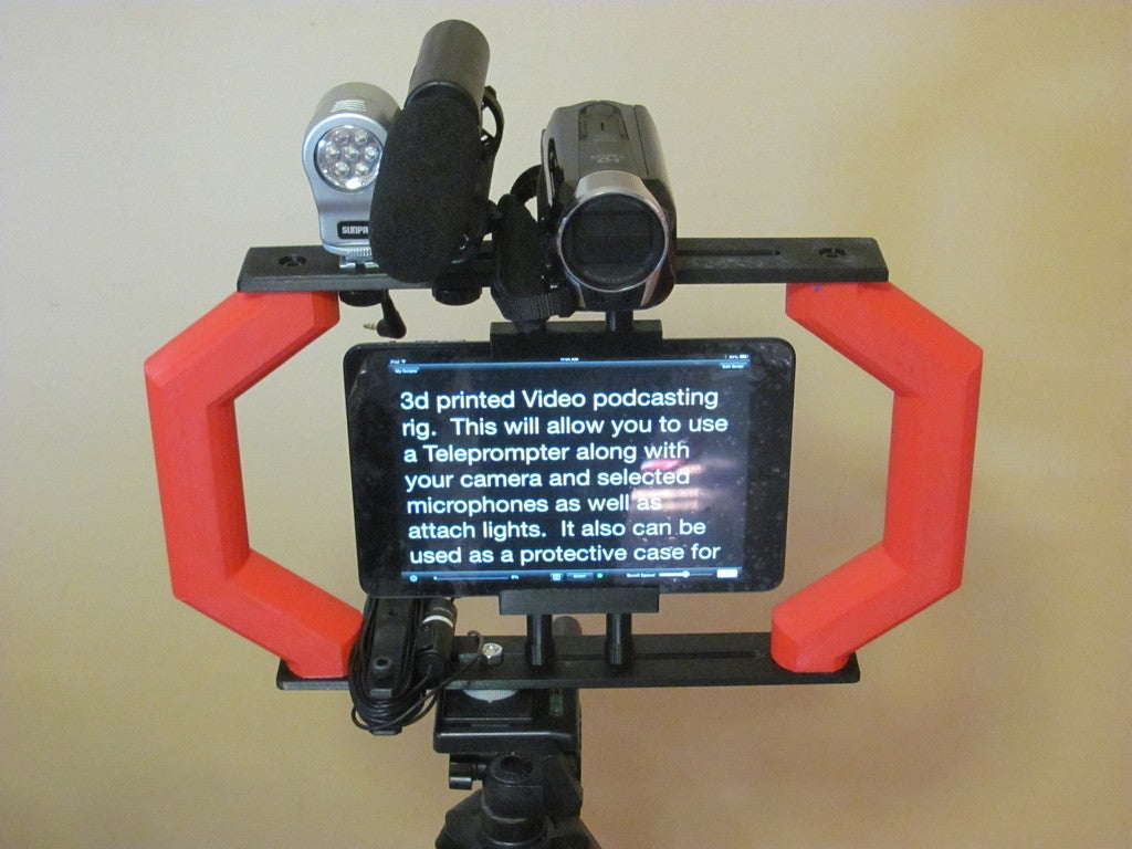 IMG_9069.jpg Download free STL file Video Podcasting Rig • 3D printable template, Liszt