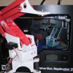 "Download free 3D printing files Remix ""meArm"" Bigger, Stronger, Longer, Liszt"