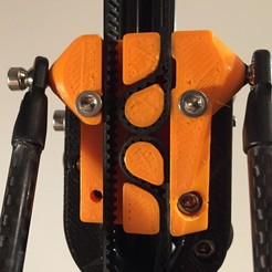 Download free 3D printing files Self locking kossel mini carriage for open belts, Liszt