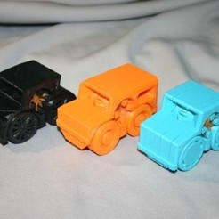 CarCollection.jpg Download free STL file Rubber Band Powered Car Collection • 3D printer template, Liszt