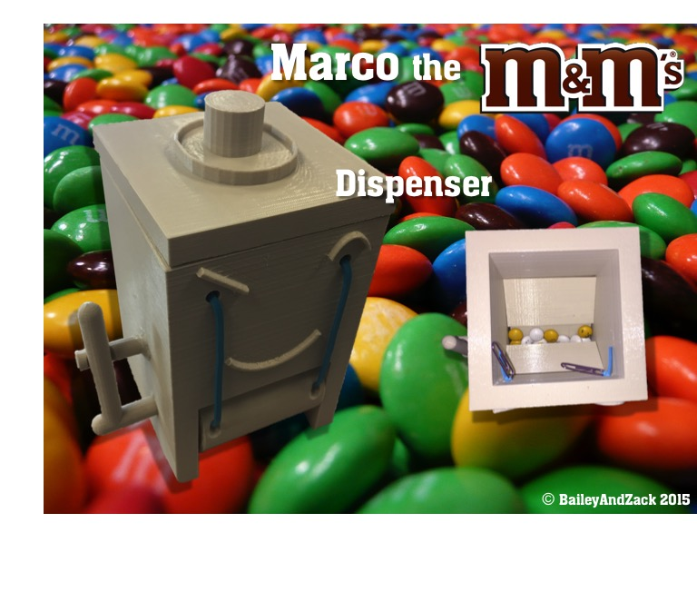 Marco_the_MMs_Dispenser.jpg Download free STL file Marco the M&M Dispenser • 3D printable design, Liszt