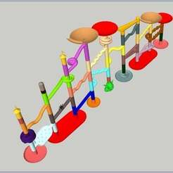 Télécharger plan imprimante 3D gatuit Collection Marble Run, Liszt
