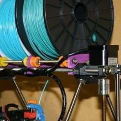 FilamentHolder1.jpg Télécharger fichier STL gratuit Support de bobine de filament • Objet imprimable en 3D, Liszt