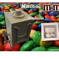 Télécharger fichier imprimante 3D gratuit Marco le distributeur M&M, Liszt