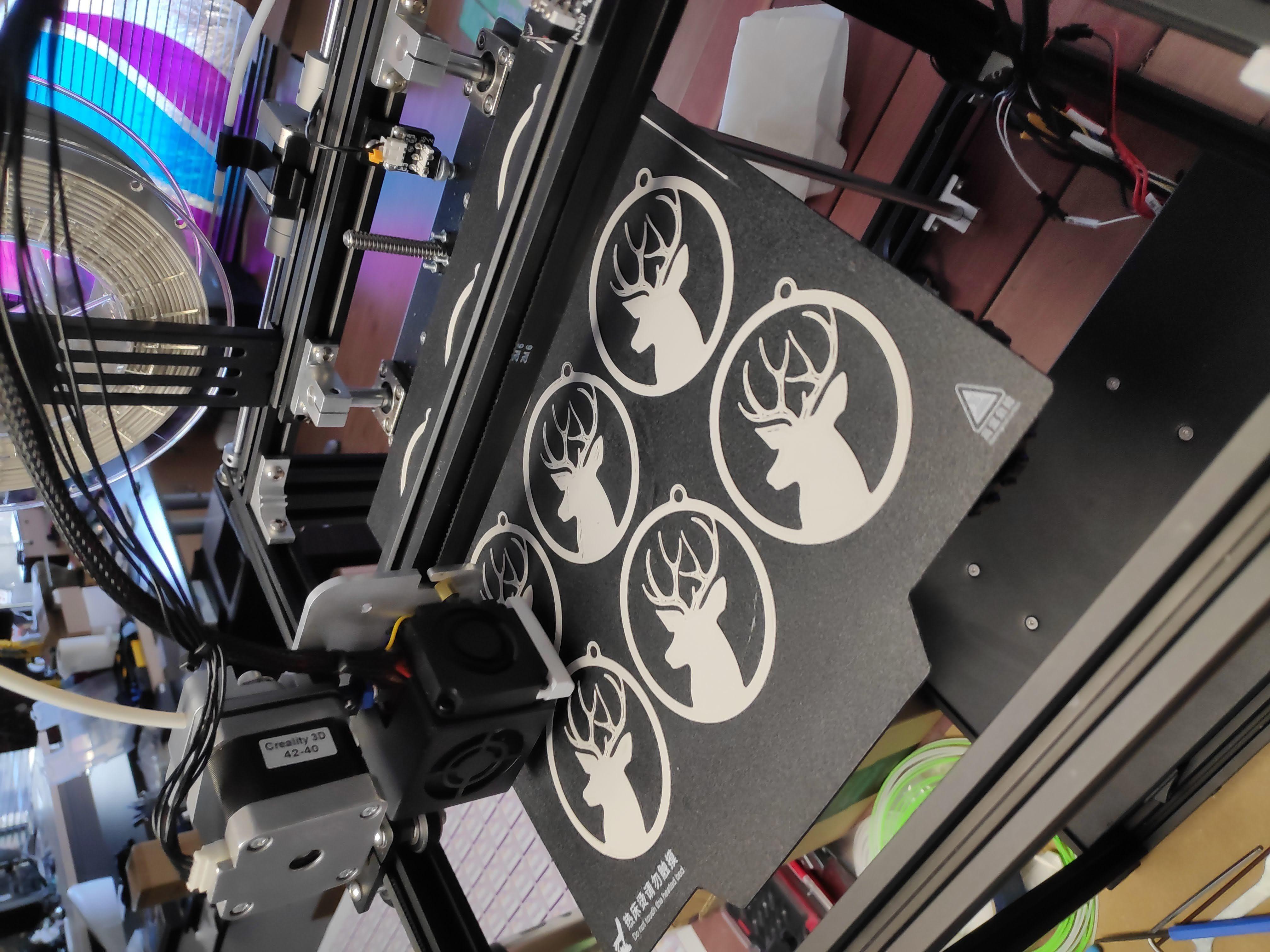 IMG_20191214_102435.jpg Download free STL file Deer - Christmas ornament • 3D print object, fusefactory