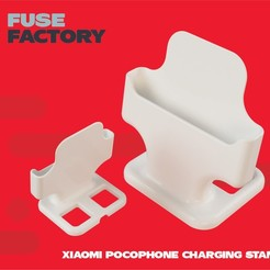Download free STL files Xiaomi pocophone charging stand, fusefactory