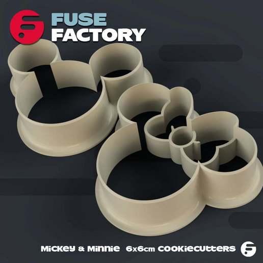 Télécharger fichier STL gratuit Mickey & Minnie Cookie Cutters • Objet pour impression 3D, fusefactory
