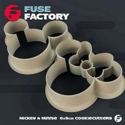 Download free 3D printer model Mickey & Minnie Cookie Cutters, fusefactory