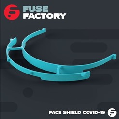 Download free 3D printer templates Face Shield Covid-19 (prusa based), fusefactory