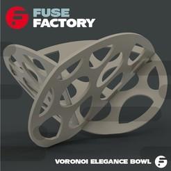 Descargar diseños 3D gratis Tazón de Elegancia Voronoi, fusefactory