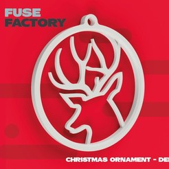 Download free 3D printer templates Deer - Christmas ornament, fusefactory