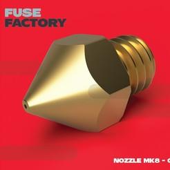 Télécharger fichier STL gratuit Buse 0,4 MK8 • Objet à imprimer en 3D, fusefactory