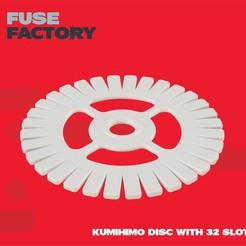 Télécharger fichier STL gratuit Disque Kumihimo - 32 emplacements • Objet imprimable en 3D, fusefactory