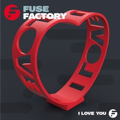 fusefactory_thingiverse_instagram_ILOVEU-02.jpg Download free STL file I LOVE U • 3D printing template, fusefactory