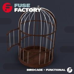 fusefactory_thingiverse_instagram_birdcage-02.jpg Télécharger fichier STL Birdcage • Modèle pour imprimante 3D, fusefactory