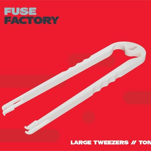 fusefactory_thingiverse_tweezers-01.jpg Télécharger fichier STL gratuit Grosses pinces, pinces à épiler - remix • Modèle à imprimer en 3D, fusefactory