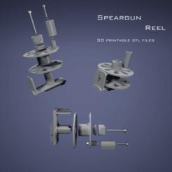 speargun reel.png Download free STL file SpearGun Reel • Design to 3D print, felipesilva