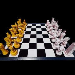 Imprimir en 3D gratis Juego de ajedrez, felipesilva