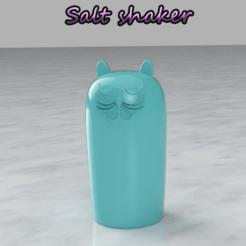 Untitled-1.png Download free STL file Salt shaker - cat face • 3D printer design, felipesilva