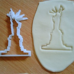 Download 3D printer templates statue of liberty cookie cutter, laraI22