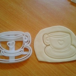 Download 3D printing designs coffee cup cookie cutter, laraI22