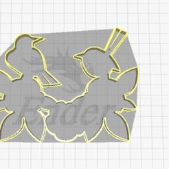 Download 3D printer model wedding,bird holding flower cookie cutter, laraI22