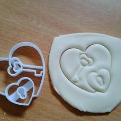 Download 3D printing models key heart cookie cookie cutter, laraI22