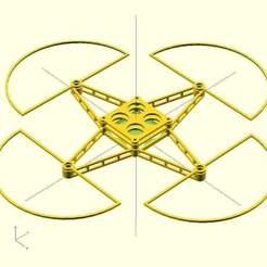 krequad_v1.1_bridges_2mm_trays_propguards.jpg Télécharger fichier SCAD gratuit Cadre quadravision paramétrique pour mini/micro-quads • Modèle à imprimer en 3D, Ludwig-Concerto