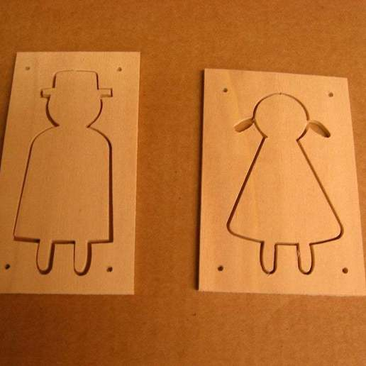 Download free 3D printer model female / male signs, Ludwig-Concerto
