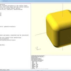 Download free 3D printer designs fullyRoundedCube openscad module, Ludwig-Concerto