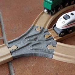 Download free 3D printing templates 3x switch for wooden railroad, Ludwig-Concerto
