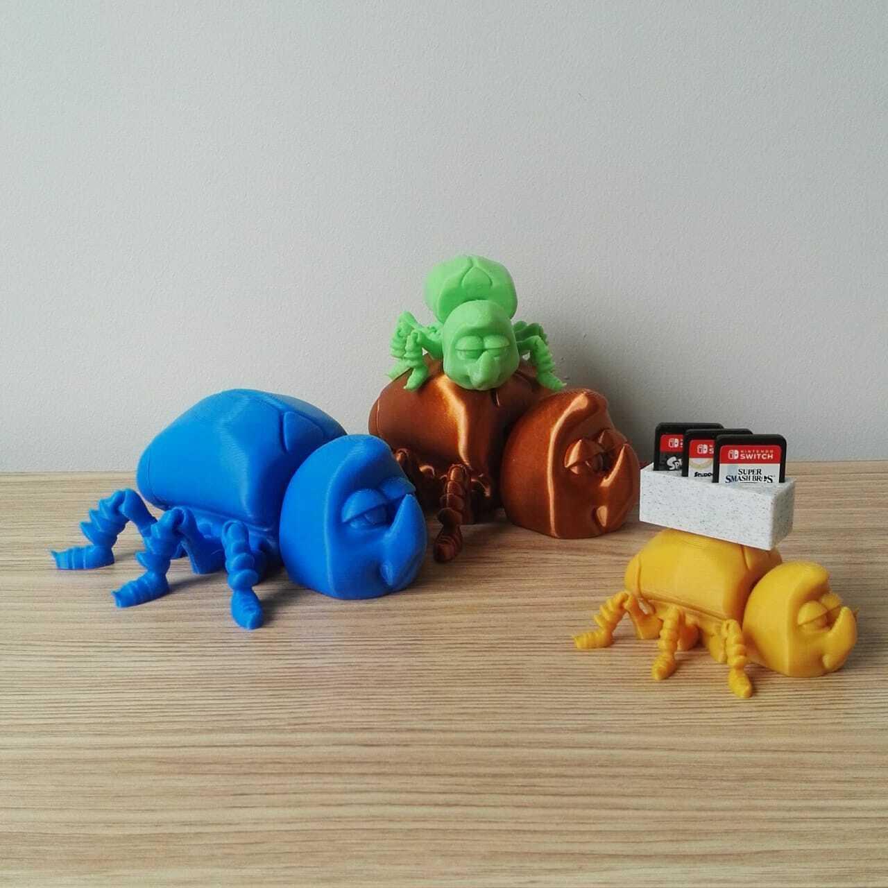 FLEXI BEETLE 3.jpeg Télécharger fichier STL gratuit SCARABÉE FLEXI • Design pour imprimante 3D, kendofuji