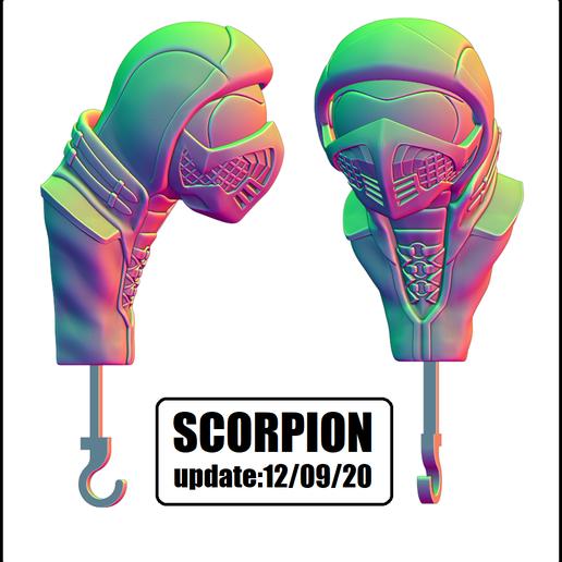 scorpion VER.png Download STL file KEY HOLDER ( EYE SCORPION AND SUBZERO) • 3D print design, KendoFuji