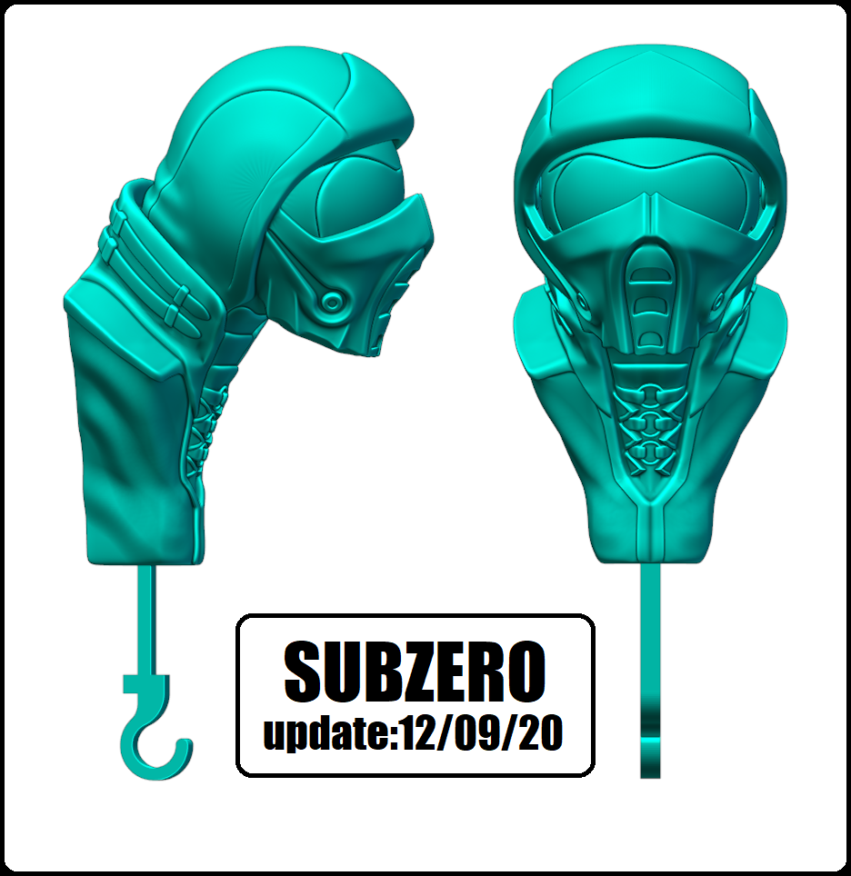 SUBZERO VER.png Download STL file KEY HOLDER ( EYE SCORPION AND SUBZERO) • 3D print design, KendoFuji
