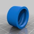 """Télécharger modèle 3D gratuit Vis à tête plate de 6 mm à serrage rapide pour vis 1/4"""" ou 8 mm, CURLY686"""