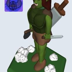 42266B60-3750-4D0C-B170-8348640AACB2.jpeg Download free STL file DnD Half-Orc Female • 3D printing template, brintan