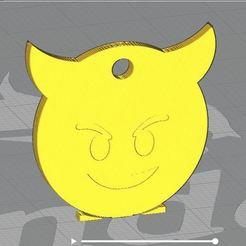 121175417_2714797795438547_8714673404288460083_n.jpg Download free STL file emoticon devil key ring • 3D printer template, alainpichen