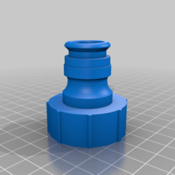"Download free STL file 3/4"" Hose adapter • Model to 3D print, 000286"