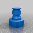 3quartin_thread_hose_nipple.png Télécharger fichier STL gratuit Adaptateur de tuyau 3/4 • Modèle imprimable en 3D, 000286