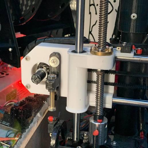 Download free 3D printing files Shorter Z endstop adjuster, 000286