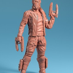 Download 3D printing models Star-Lord Starlord Guardians of the Galaxy marvel 3d print, carlos26