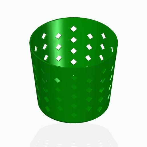 basket1green.jpg Télécharger fichier STL gratuit Panier à crayons, etc. • Design à imprimer en 3D, tsampoyras