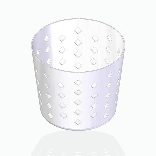 basket1white.jpg Télécharger fichier STL gratuit Panier à crayons, etc. • Design à imprimer en 3D, tsampoyras