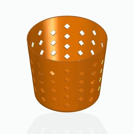 basket1orange.jpg Télécharger fichier STL gratuit Panier à crayons, etc. • Design à imprimer en 3D, tsampoyras