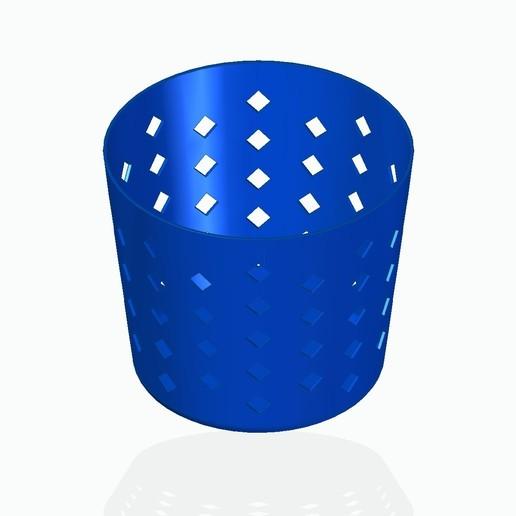 basket1blue.jpg Télécharger fichier STL gratuit Panier à crayons, etc. • Design à imprimer en 3D, tsampoyras