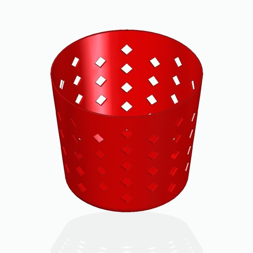 basket1red.jpg Télécharger fichier STL gratuit Panier à crayons, etc. • Design à imprimer en 3D, tsampoyras