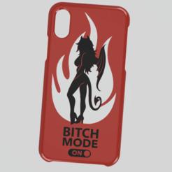 Descargar archivo 3D Case Iphone X/XS Bitch mode on, 3dokinfo