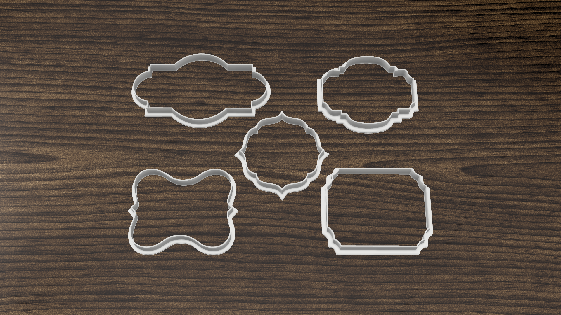 Download Stl File Set X10 Vintage Frame Cookie Cutters Template To 3d Print Cults